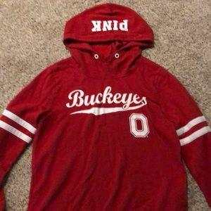 Red buckeye PINK hoodie